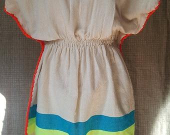 Orange Poppy Organic Cotton Ethio Dress