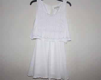White Dress With Design Medium