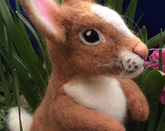 Easter Bunny - needle felted wool sculpture