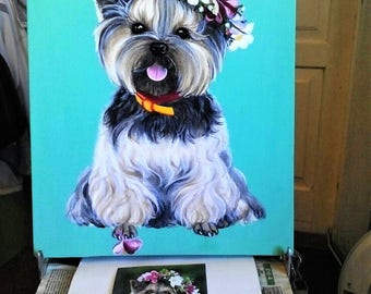Pet painting. Pet portrait. Custom dog oil painting. Custom animal portrait. Art wall decor. Art-oil painting.