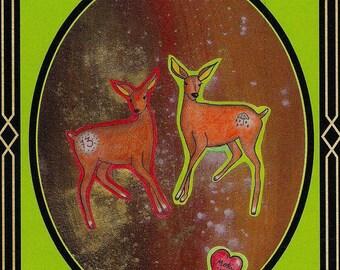 Deer 666 card