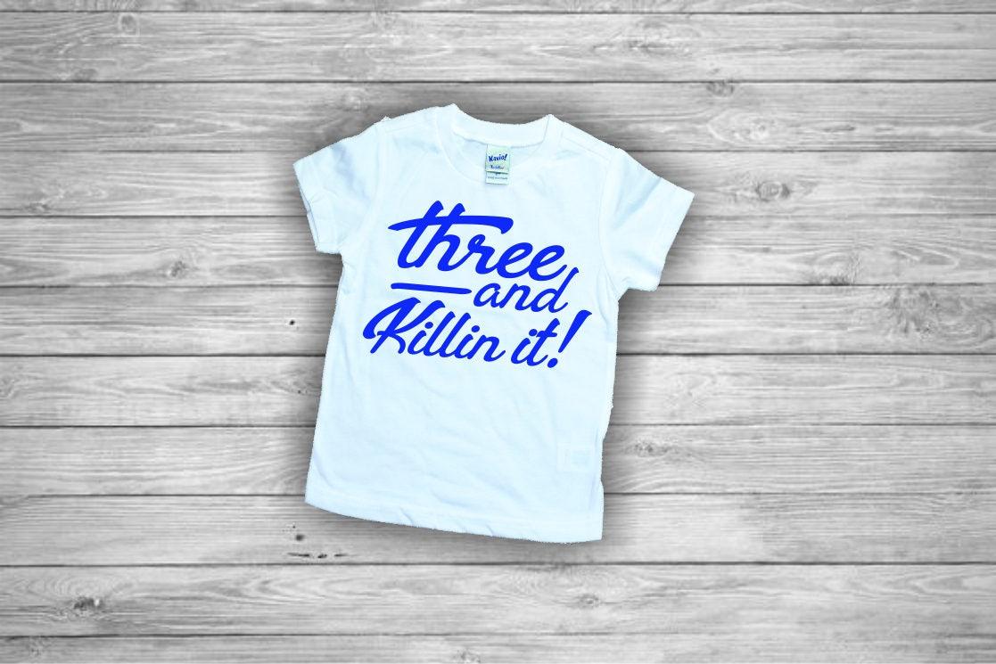 3 Year Old Birthday Shirt Three Boy 3rd