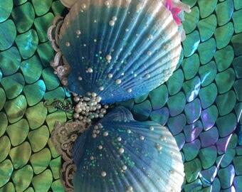 Refurbished Strapless Blue Mermaid Top