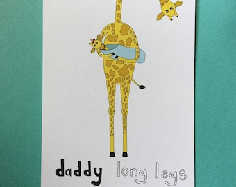 Daddy Long Legs - blank pun greeting card