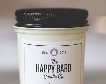 Austen – Lavender and Chamomile | Hand poured soy candle with wooden wick