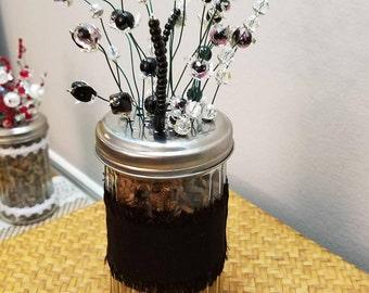 Black Beaded Floral Arrangement