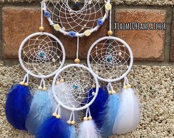 Rose Multi-Rings Series (Blue) - Handmade Dreamcatcher
