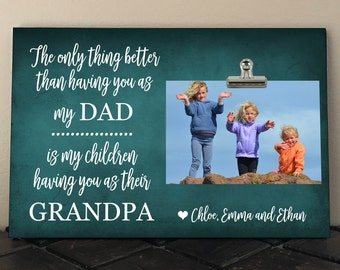 FATHERS Day gift for GRANDPA, The only thing better than having you as my DAD is my children having you as their Grandpa, Personalized Free