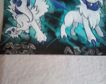 Absol and Mega Absol Pokemon inspired print