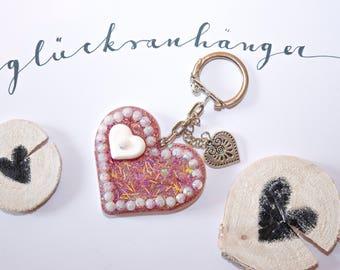Pendant, heart key pendant