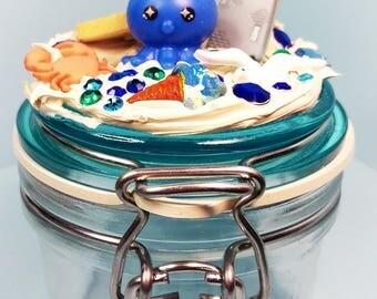Seaside Octopus Decoden Jar