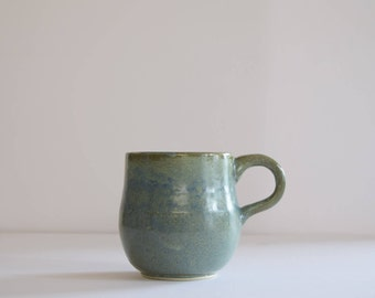 Stoneware Pottery Mug, Handmade Natural Earth-tone Glaze