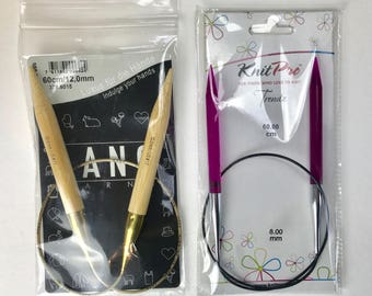 Circular needles Pack - 8mm / 12mm and 60cm / 60cm