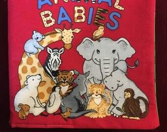 Animal Babies Cloth Book Baby Gift