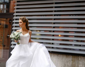 Wedding dress , unique wedding gown,  Ivory dress,sexy wedding dress, bridal gowns