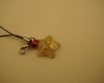 Golden Star Cellphone Charm