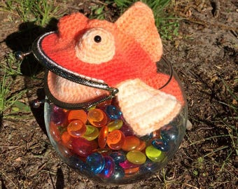 Crochet Goldfish Coin Purse