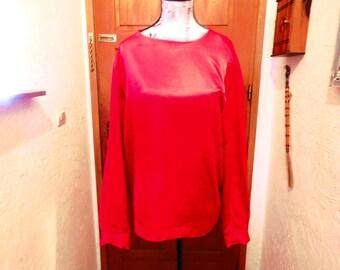 Alain Manoukian, pink satin blouse