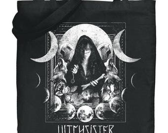 Witchsister Photography Canvas Moon Tote Bag