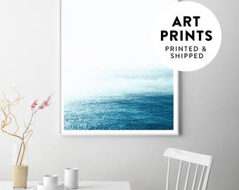 Ocean art, ocean print, ocean landscape, ocean poster, ocean wall art, blue ocean, surf art, sea print, seascape, beach art, blue wall art