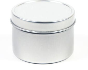 Candle Tin 4 oz size, Decorative Tin, Gift Tin, Shave Soap Tin, Herbs, Beads, Craft Supplies, 30 pack, Free Shipping