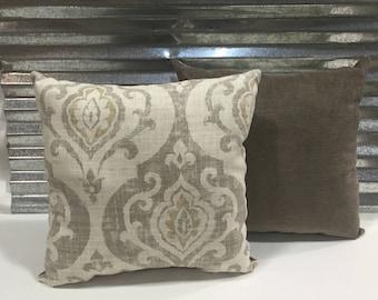 Pair of 20x20 Suri Raffia Decorator Pillows