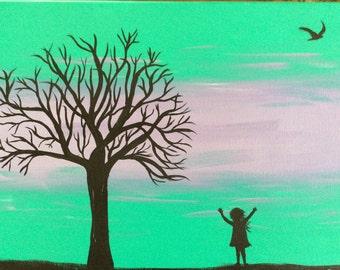 Original Canvas Painting - Growing Up No. 2