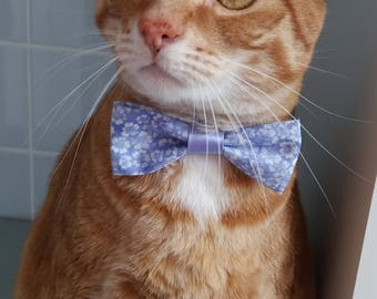 """Purple bow tie for cats """"Nougat"""""""