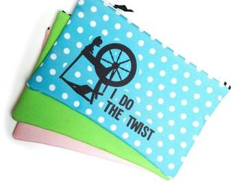 Zipper Bag, Project bag, Hand spinning, I Do the Twist