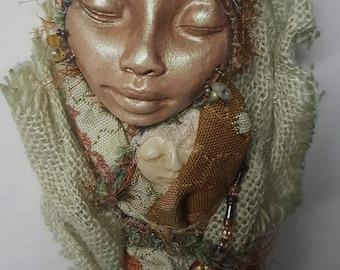 Forest Guardian ~ Spirit Art Doll ! Nature Art Doll ~ Assemblage Art Figure ~ OOAK Art Doll, Yule tree topper ~ Rustic Home Décor