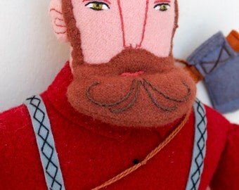 Classic Lumberjack man wool doll plush beard