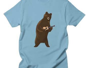 Bear Shirt - Animal Shirt - Cute Shirt - Printed Shirt - Animal Print - Unisex Shirt - Customizable Shirt