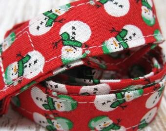 Lanyard, Badge Holder, ID Holder, Breakaway Lanyard, Fabric Lanyard, Teacher Lanyard, Snowman Holiday Christmas