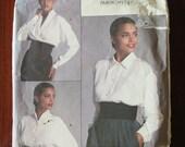 Vintage 80s American Designer Calvin Klein Misses Blouse Shirt Pattern sz 16 B38