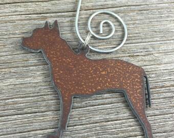 Pit Bull Christmas Ornament, Pit Bull Ornament, Dog Christmas Ornament, Dog Ornament, Gift for Dog Lover, Dog Gift, Pitbull Ornament