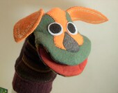 dog puppet named Collard