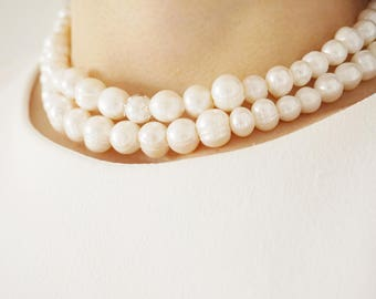Statement Necklace Bridal Necklace Bridal Jewelry Pearl Necklace Pearl Jewelry Bridesmaid Gift Wedding Necklace Wedding Jewelry Gift For Her