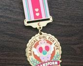 Magical Girl for Life Enamel Medal