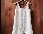 Minimalist Linen Low Back Tank Dress - Oversized fit - available in 6 colors