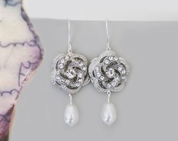 Bridesmaid Jewellery Teardrop Earrings Bridal