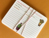 Succulent Pots- Personalized recipe cards, set of 20