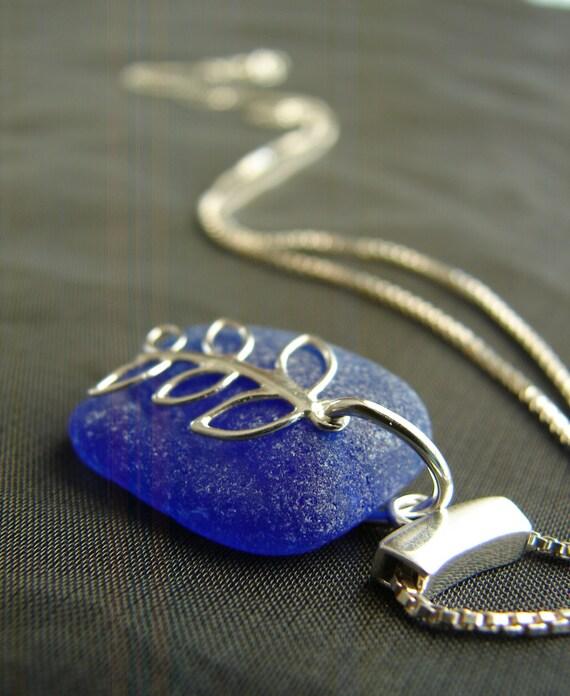 Sea Vine sea glass necklace