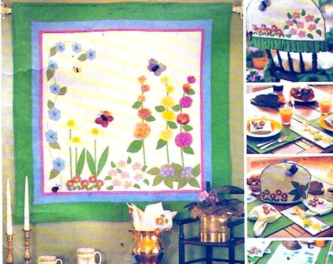 Spring Table runner wall quilt placemat napkins tea cozy cushion sewing pattern McCalls 3204 American Tradition home decor UNCUT