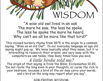 Girlfriend Wisdom Column - Owls