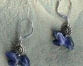 frog earrings sodalite go...