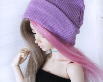 Msd clothes minifee clothes mini super dollfie MonstroDesigns Minifee lilac slouchy beanie Ready to Ship