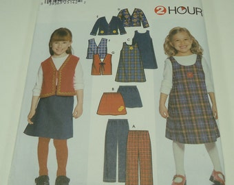 Simplicity Child's Pants, Skirt, Jumper And Lined Or Unlined Jacket Or Vest Pattern 9854 Size 2, 3, 4, 5, 6, 6x 2 hour