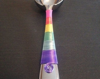 Unicorn Coffee Scoop - Pastel Rainbow Wire - Baby Shower Favors - Birthday Party - Candy Scoop - Gifts Under 25 - Baby Girl - Baby Shower