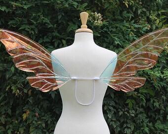Fairy Wings, Cellophane, Iridescent, Adult size, Wisp design