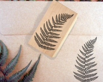 Fern Rubber Stamp - Handmade by Blossom Stamps